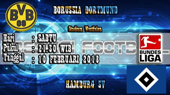 Prediksi Skor Borussia Dortmund vs Hamburg SV 10 Februari 2018