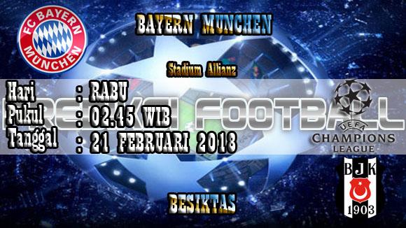 Prediksi Skor Akurat Bayern Munchen vs Besiktas 21 Februari 2018