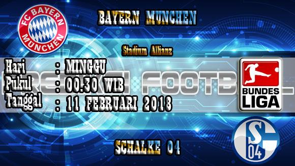 Prediksi Bola Bayern Munchen vs Schalke 04 11 Februari 2018