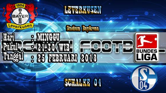 Prediksi Skor Akurat Leverkusen vs Schalke 04 25 Februari 2018